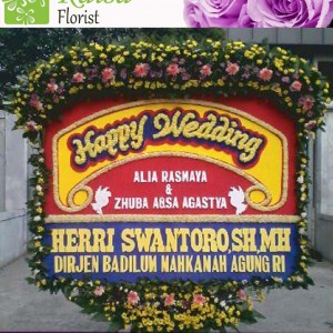Bunga Papan Wedding B001