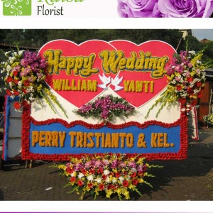 Bunga Papan Wedding B004