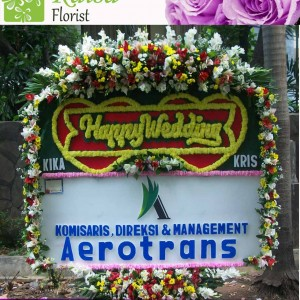 Bunga Papan Wedding B11